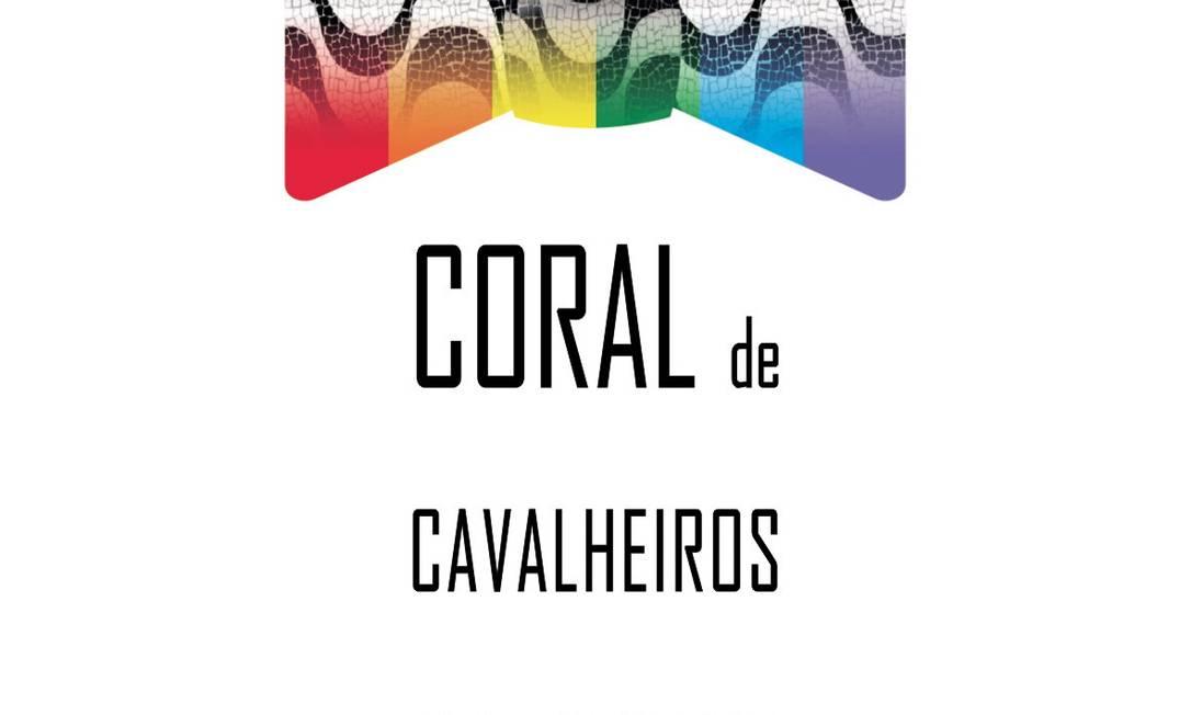 O logotipo do Coral de Cavalheiros Cariocas mistura o desenho do calçadão da Praia de Copacabana com as cores do arco-íris Foto: Divulgação / O Globo