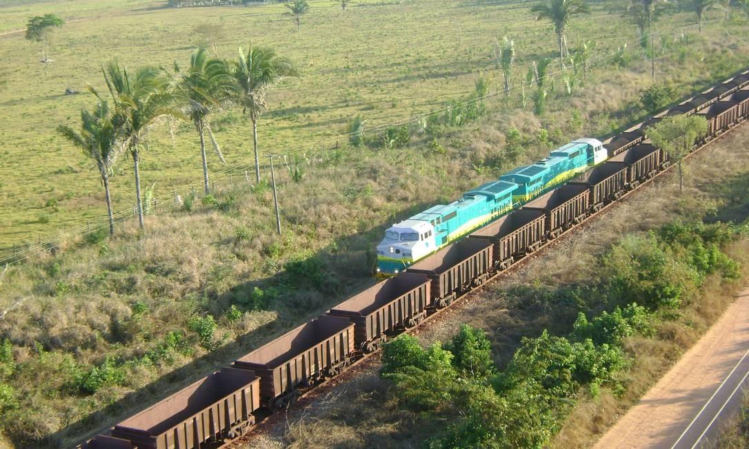 Estrada de Ferro Carajás, que liga PA a MA Foto: Divulgação