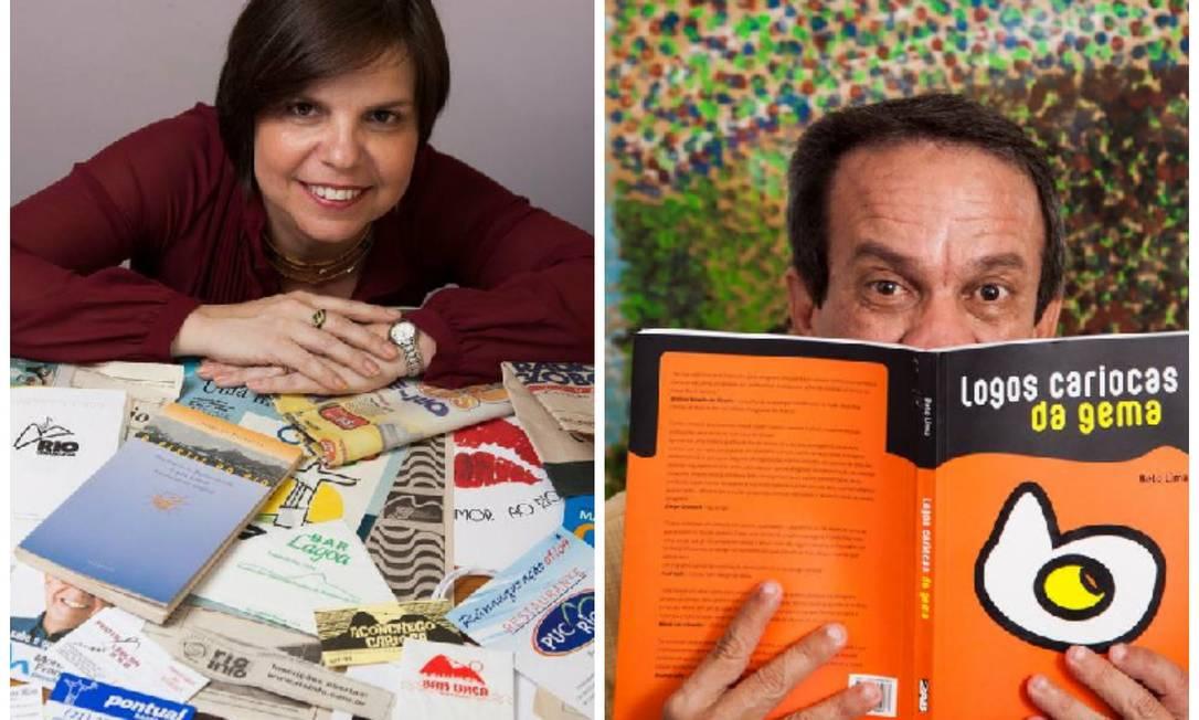 """Isabella estuda as imagens do Rio há 20 anos. Beto escreveu """"Logos cariocas da gema"""" Foto: Daniela Dacorso / Agência O Globo"""
