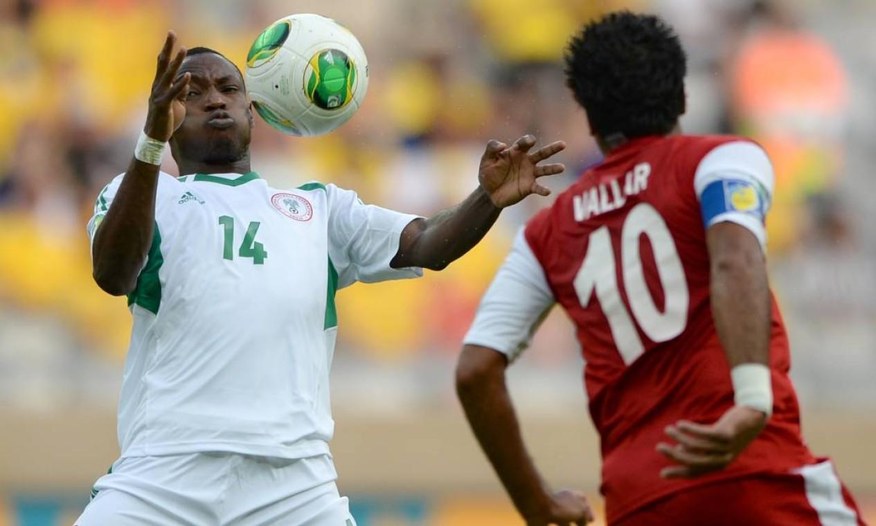 A partida entre Nigéria e Taiti encerrou a primeira rodada da Copa das Confederações, Mineirão Foto: EITAN ABRAMOVICH / AFP