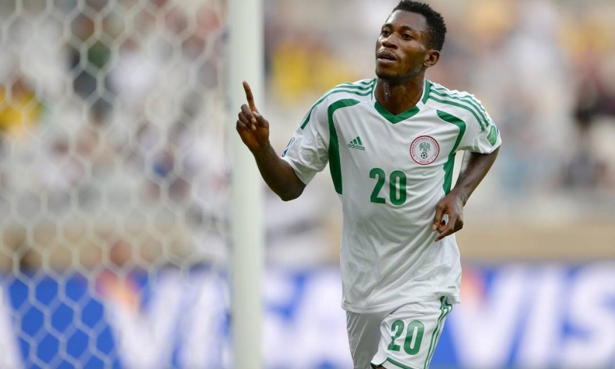 Oduamadi também foi o autor do terceiro gol da seleção nigeriana Foto: EITAN ABRAMOVICH / AFP