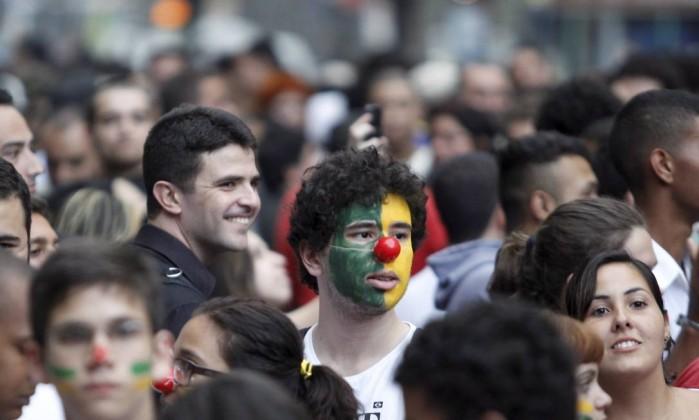 Manifestação contra o aumento das pssagens de ônibus na Candelária Agência O Globo