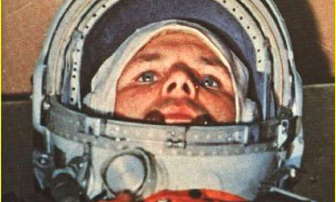 Corrida espacial. Gagarin a bordo da cápsula Vostok 1: primeiro homem no espaço e herói da União Soviética, ele morreu em acidente aéreo Foto: 12/04/1961 / AFP