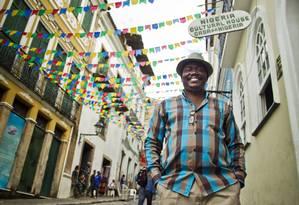 ES LOCAL Rio de Janeiro, RJ 15/06/2013 Copa das Mojeed Oyewo, coordenador da Casa da Nigéria, no Pelourinho, Salvador Foto: Guito Moreto / Agência O Globo