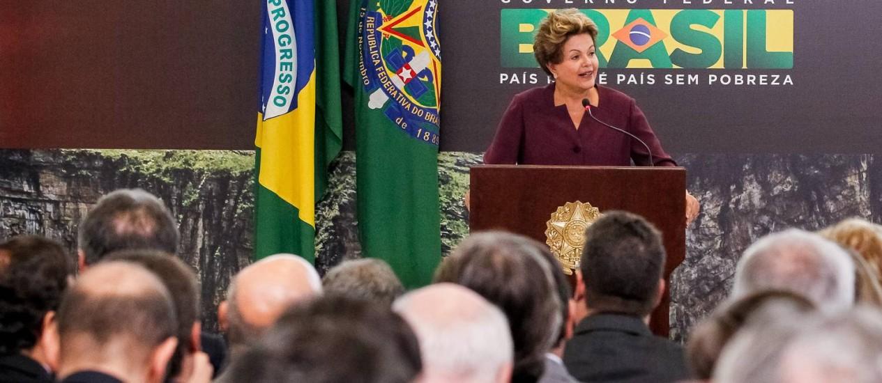 Dilma Rousseff defende manifestações e diz que governo ouve 'vozes pela mudança' Foto: Divulgação