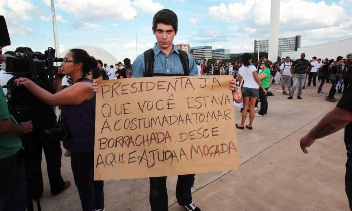 Estudantes fazem apelos à presidente Dilma Givaldo Barbosa / Agência O Globo