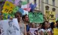 Manifestação em Florença em solidariedade aos protestos no Brasil