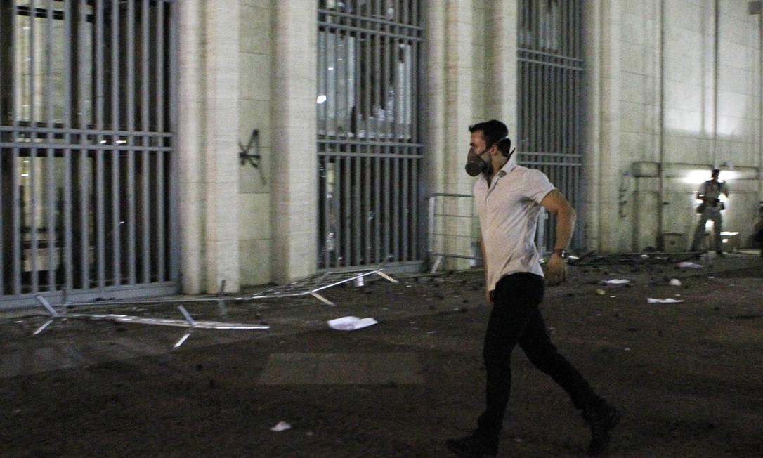 Manifestante é procurado pela polícia de SP Foto: Michel Filho