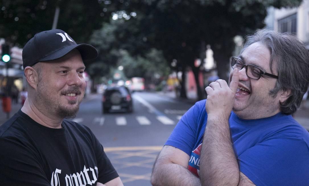 Wilson Power e Edinho: juntos nas pistas, do vinil ao som digital. Foto: Divulgação/Fernando Prado