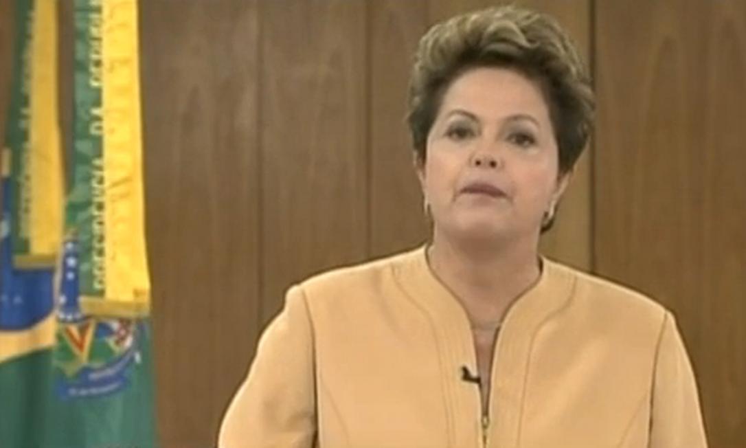 A presidente Dilma Rousseff 21/06/3013 Foto: Reprodução