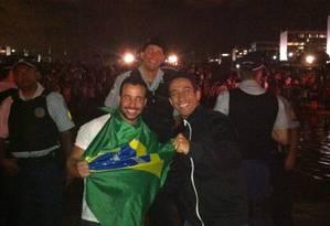 Icaro, filho do senador Rollemberg (PSB-DF), com o cunhado Rodrigo Alencar Foto: Arquivo pessoal