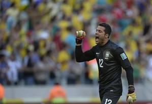 Júlio César lembrou que o torcedor tem dado um apoio muito grande para a seleção na Copa das Confederações Foto: Juan Barreto / AFP