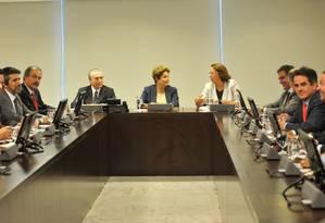 Dilma discute reforma política por meio de plebiscito com aliados Foto: Agência Brasil
