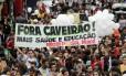 Moradores da Comunidade da Maré protestam contra a violência policial