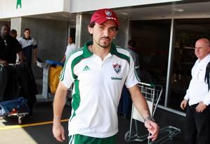 Ricardo Berna rescindiu o contrato com o Fluminense: goleiro pode ir para o Náutico Foto: Fernando Maia/05-05-2011
