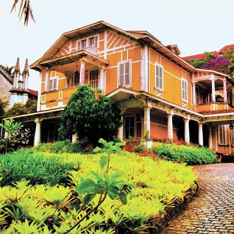 Lance de valor. A mansão que pertenceu aos Guinle será leiloada em Petrópolis Foto: Divulgação