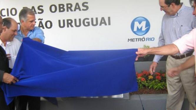 Obras da estação Uruguai começaram em janeiro de 2011 - Foto: Divulgação Metrô Rio 17/01/2011
