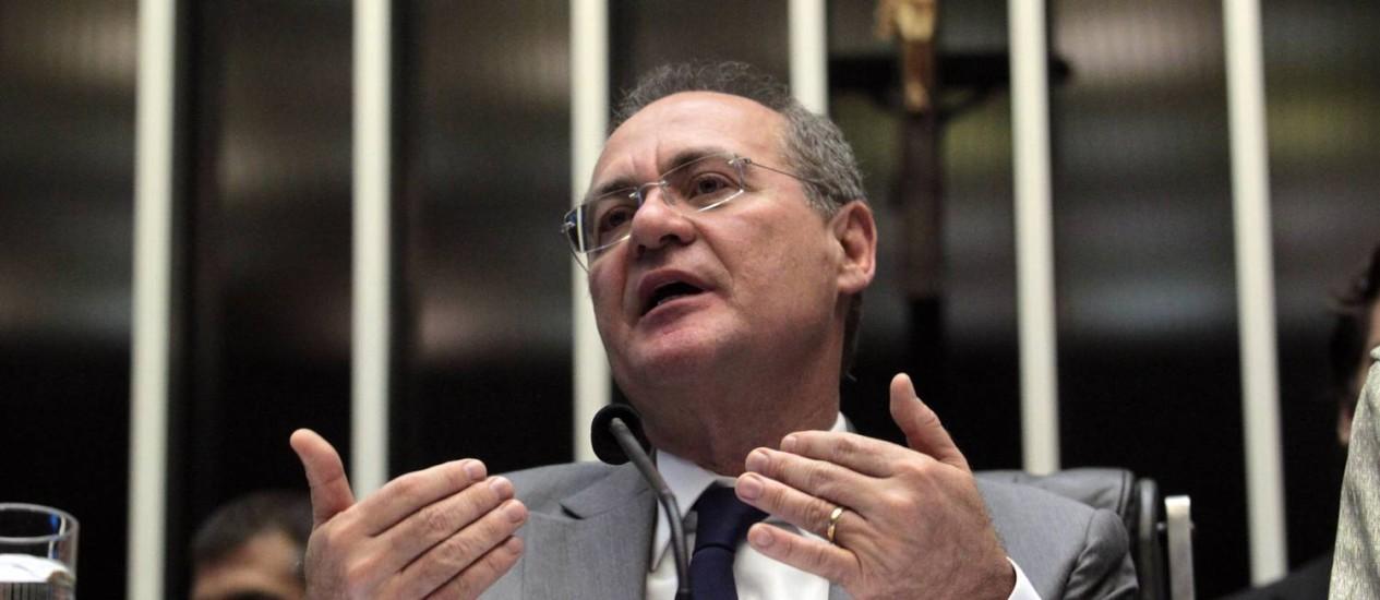 Renan Calheiros no Congresso Nacional Foto: Givaldo Barbosa / Arquivo Globo