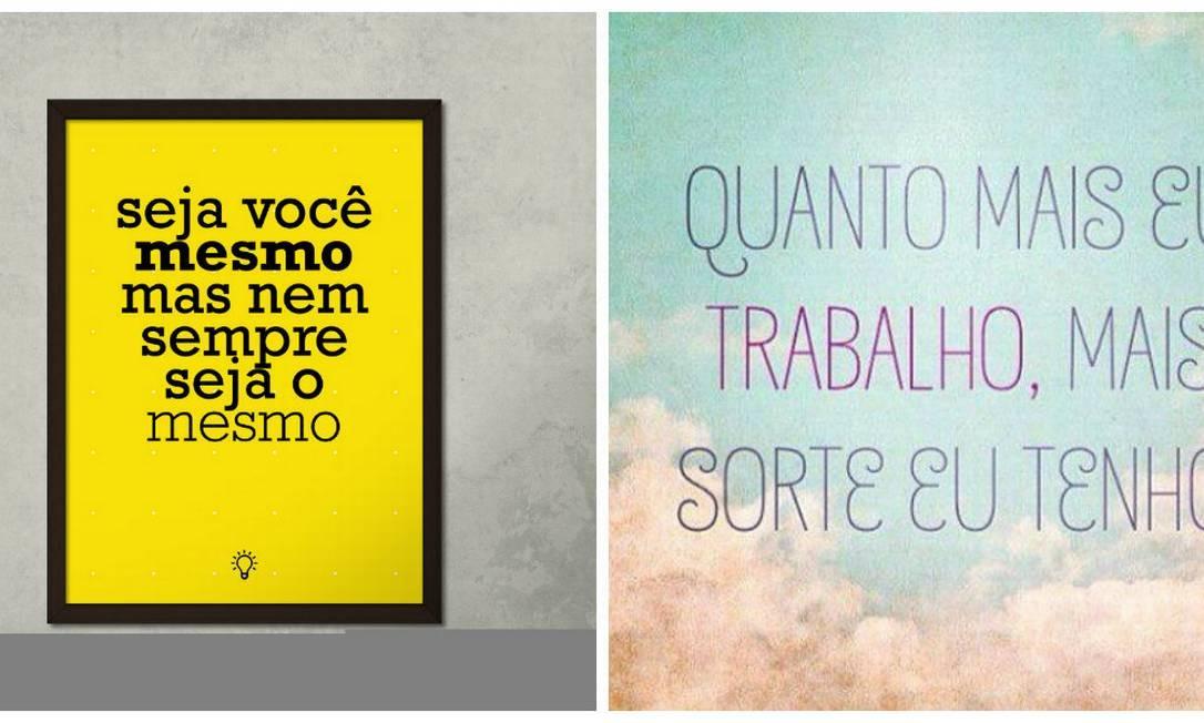 Pôsteres com design caprichado e frases de motivação fazem parte da onda da nova autoajuda Foto: Divulgação/ Na Casa da Joana