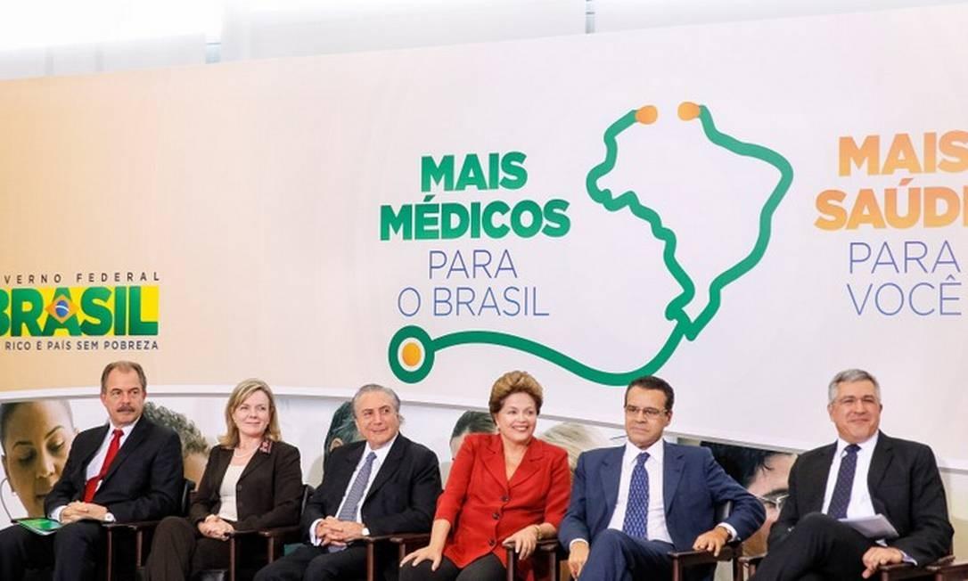 Presidente Dilma Rousseff durante a cerimônia de lançamento do programa Mais Médicos, em julho de 2013 Foto: Presidência da República