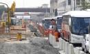 Engarrafamento causado pelas obras no viaduto 31 de Março, que fecharam o acesso ao Santo Cristo - Foto: Pablo Jacob / Agência O Globo