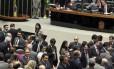 Câmara dos Deputados durante sessão plenária nesta terça-feira