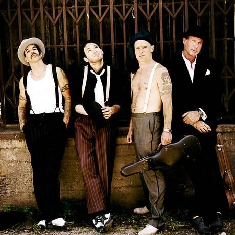 A banda americana Red Hot Chili Peppers Foto: Divulgação