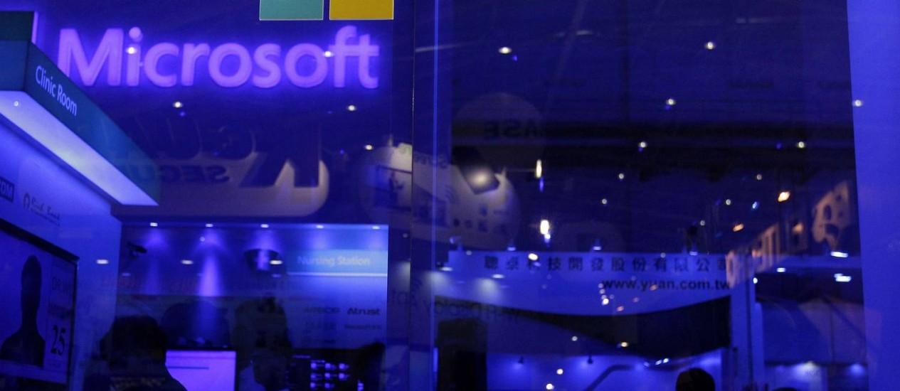Estande da Microsoft na exibição Computex em Taipei Foto: PICHI CHUANG / REUTERS