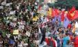 Sem e com partido: bandeiras e carro de som marcam diferença entre os protestos de junho e os de hoje