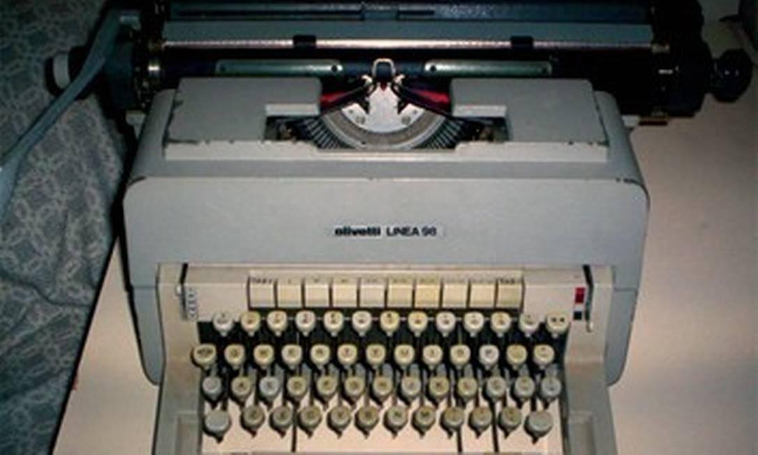Máquina de escrever - 25/04/2011 Foto: Agência O Globo