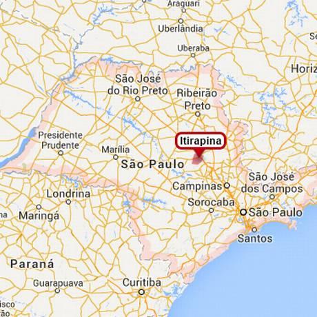 Localização da cidade do interior de São Paulo Foto: Reprodução