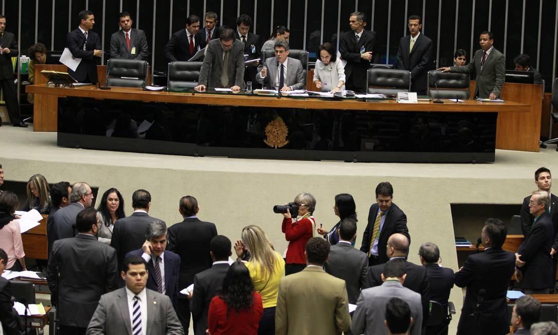 Sessão da Câmara dos Deputados Foto: Ailton de Freitas / O Globo