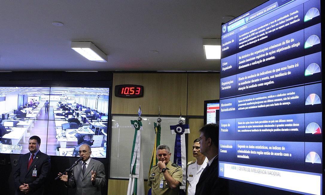 Painel na Abin mostra panorama da criminalidade no Rio Foto: André Coelho / Agência O Globo