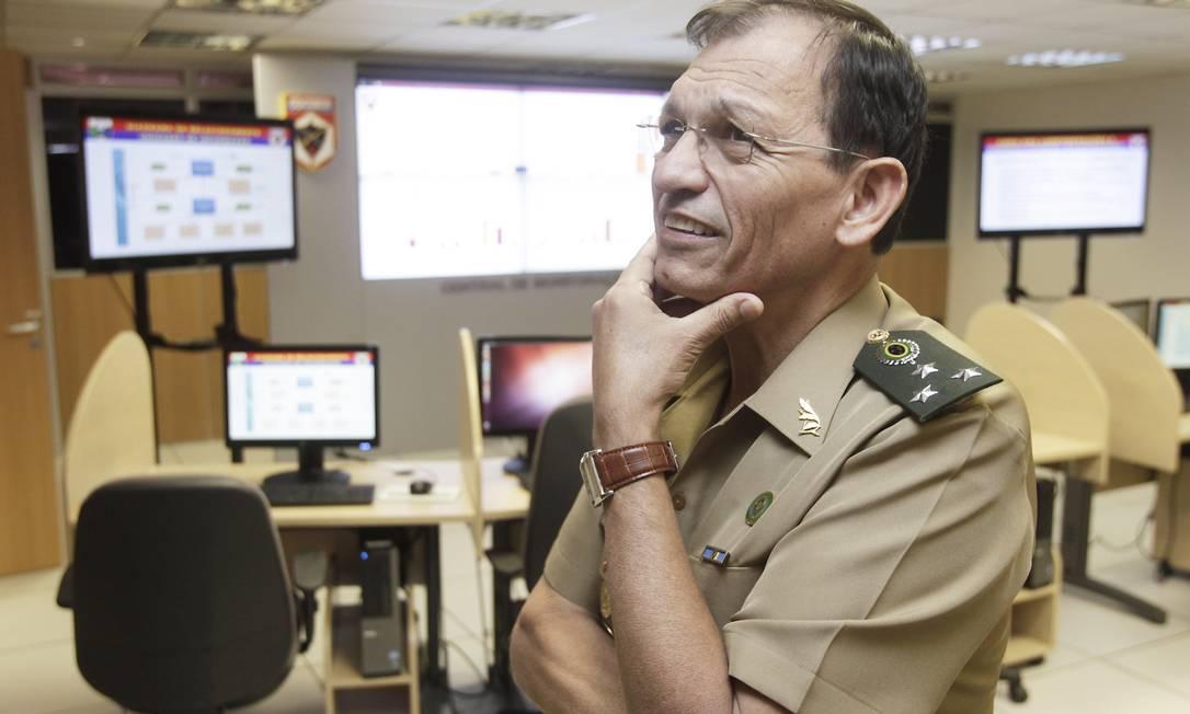 General José Carlos, chefe do Centro de Defesa Cibernética do Exército Foto: O Globo / Jorge William