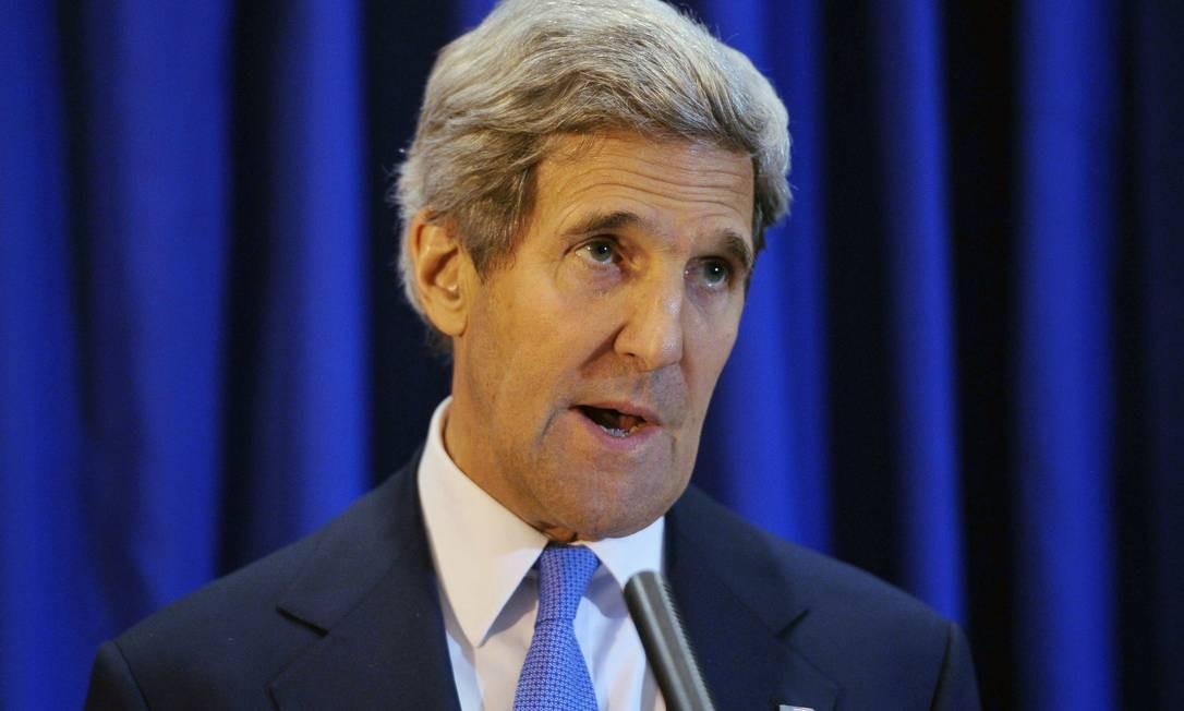 Secretário de Estado dos EUA, John Kerry, em pronunciamento na Jordânia Foto: POOL / REUTERS
