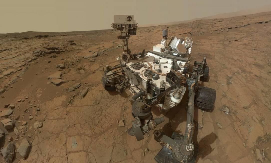 Autorretrato do Curiosity na superfície de Marte: atmosfera do planeta é praticamente a mesma há 4 bilhões de anos Foto: Nasa