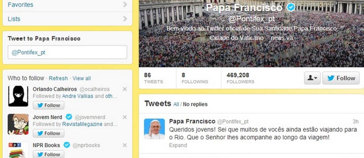 Nova mensagem do Papa aos peregrinos da Jornada Mundial da Juventude Foto: Internet / Reprodução