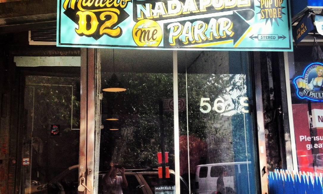 Loja de Marcelo D2 em Nova York Foto: Divulgação/Ana Butler