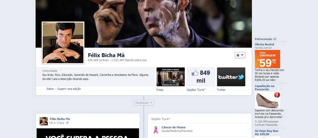 """Página """"Félix Bicha Má"""" Foto: Reprodução / Facebook"""