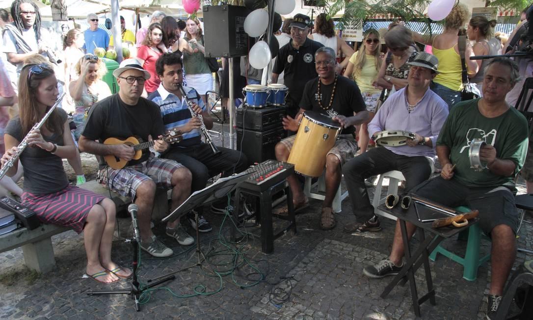 Atração. O grupo Pixin Bodega se apresenta todos os sábados, às 12h Foto: Fernanda Dias / Agência O Globo