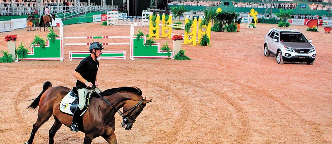 Cavaleiro durante o Athina Onassis Horse Show: transporte de animais da Europa está na mira do MP - Foto: Cezar Loureiro/25-08-2010