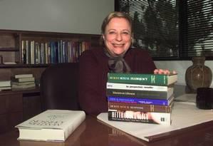 Virginia Johnson em seu escritório em Creve Coeur, nos Estados Unidos Foto: James A. Finley / AP