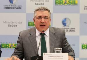 Ministro da Saúde, Alexandre Padilha, apresenta balanço do programa Mais Médicos Foto: Ailton de Freitas / O Globo