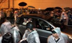 Papa Francisco chega ao Hospital São francisco na Providência de Deus, onde discursou para fiéis Foto: Marcelo Theobald / Agência O Globo