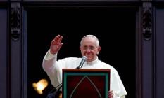 Ainda na Glória, Papa rezou o Angelus Foto: Pedro Kirilos / O Globo