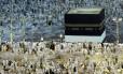 Peregrinos muçulmanos em Meca em 2012. Medo de surto do vírus mortal Mers se alastrar por devotos que vão à Arábia Saudita em outubro