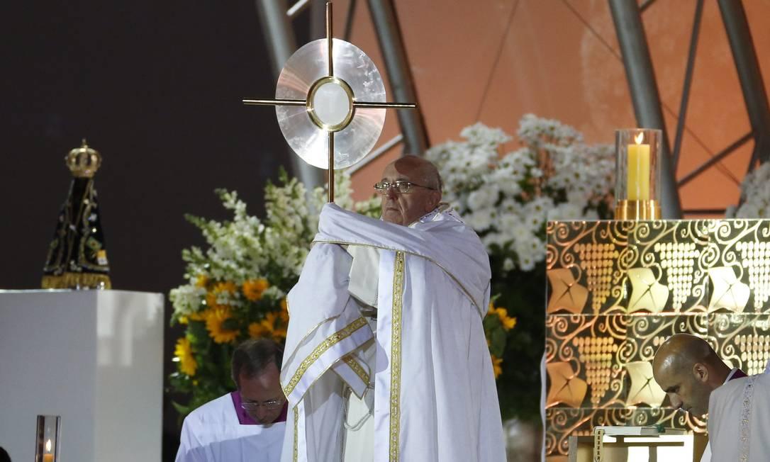 Papa Francisco abre a vigília da Jornada Mundial da Juventude Foto: Guito Moreto / Agência O Globo