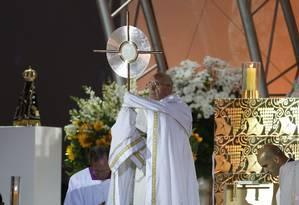 Papa Francisco na abertura da vigília da Jornada Mundial da Juventude Foto: Guito Moreto / Agência O Globo