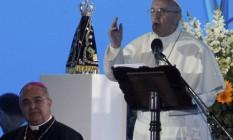 O Papa pediu aos jovens para serem 'verdadeiros atletas de Cristo' Foto: Bruno Gonzalez / Extra