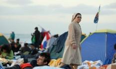Vigilia na praia de copacabana no ultimo dia da jornal mundial da juventude Foto: Agência O Globo